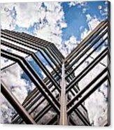 Cloudy Building Acrylic Print