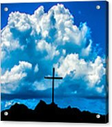 Cloudy Cross Acrylic Print