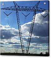 Cloudy Day Electric Grid Acrylic Print