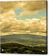 Cloudy Day In New Hampshire Acrylic Print