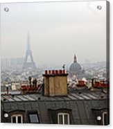 Cloudy Day In Paris Acrylic Print