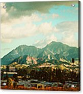 Cloudy Day On Mt Diablo In San Francisco Bay Area Acrylic Print by Dorothy Walker