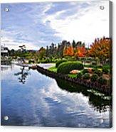Cloudy Garden Reflections Acrylic Print