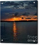 Cloudy Harbor Sunset  Acrylic Print