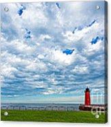 Cloudy Milwaukee Harbor Acrylic Print
