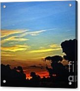 Cloudy Morning In Fort Lauderadale Acrylic Print