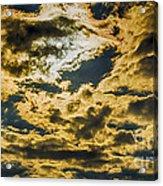 Cloudy Sky Over Calvary Cemetery Acrylic Print