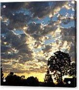 Cloudy Sunrise Acrylic Print by James Hammen