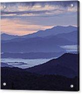 Cloudy Sunrise Acrylic Print