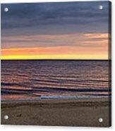 Cloudy Sunrise On Nauset Beach Acrylic Print
