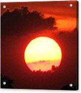 Cloudy Sunset 21 May 2013 Acrylic Print