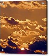 Key West Cloudy Sunset Acrylic Print