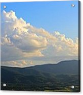 Cloudy View Acrylic Print by Candice Trimble