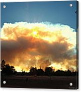 Clover Fire At 5 25 Pm Acrylic Print