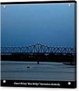 Clover H Cary Bridge Acrylic Print