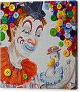 Clown And Duck With Buttons Acrylic Print