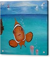 Clown Fish And Friends Acrylic Print