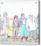 Clown Lineup Acrylic Print