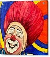 Watercolor Clown #17 Mark Carfora Acrylic Print