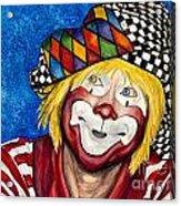 Watercolor Clown #16 Ron Maslanka Acrylic Print