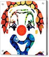 Clownin Around - Funny Circus Clown Art Acrylic Print