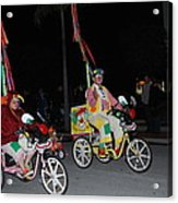Clowns On Bikes Acrylic Print