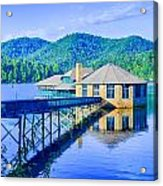 Clubhouse On Lake Tahoma Acrylic Print