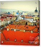 Cluj From Above Acrylic Print