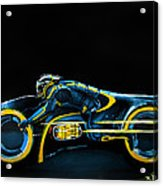 Clu's Lightcycle Acrylic Print by Kayleigh Semeniuk
