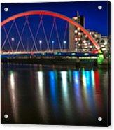 Clyde Arc Glasgow At Night Acrylic Print