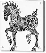 Clydesdale Foal - Zentangle Acrylic Print