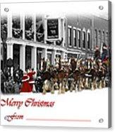 Clydesdale  Team Christmas Card Acrylic Print