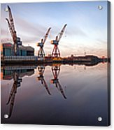 Clydeside Cranes Long Exposure Acrylic Print