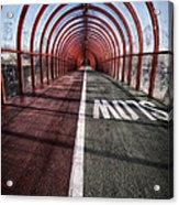 Clydeside Walkway Acrylic Print by John Farnan