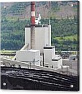 Coal Mine Electrical Energy Power Plant In Nature Acrylic Print