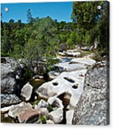 Coarsegold Creek Bed In Park Sierra-ca Acrylic Print