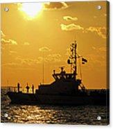 Coast Guard In Paradise - Key West Acrylic Print