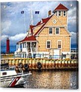 Coast Guard Station On Muskegon Lake Acrylic Print