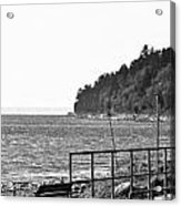 Coast Line B And W Acrylic Print
