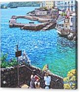 Coast Of Plymouth City Uk Acrylic Print