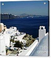 Coast Of Santorini Acrylic Print