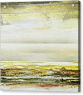Coast Rhythms And Textures Yellow And Sepia 1  Acrylic Print by Mike   Bell