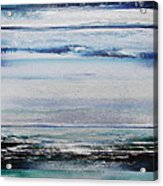 Coast Rhythms And Texturesblueand Silver 1 Acrylic Print by Mike   Bell