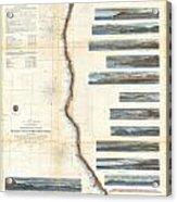 Coast Survey Chart Or Map Of California And Oregan North Of San Francisco Acrylic Print