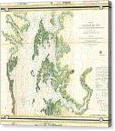 Coast Survey Map Of The Chesapeake Bay  Acrylic Print