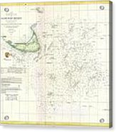 Coast Survey Nautical Chart Or Map Of Nantucket Massachusetts Acrylic Print