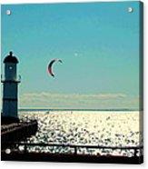 Coast To Coast Sea To Sky Flies Curiosity Crescent Kite Night Scenes On The Canal Carole Spandau Acrylic Print