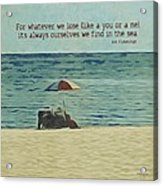 Coastal Beach - E.e. Cummings Sea Quote Acrylic Print