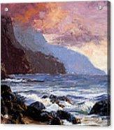 Coastal Cliffs Beckoning Acrylic Print by Mary Giacomini