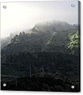 Coastal Fog And Power Poles Acrylic Print
